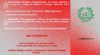 Sabato 21 settembre, dalle ore 10 alle ore 18, presso laDomus Mazziniana convegno: SESSUALITÀ, POTERE, […]